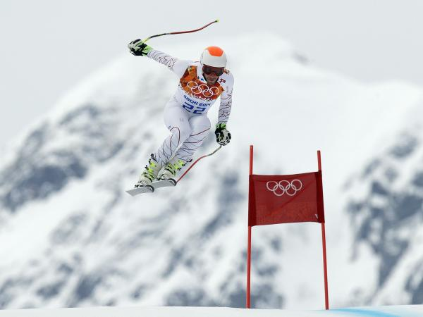 Bode Miller of the United States makes a jump during men's super-combined downhill training at the Sochi 2014 Winter Games on Tuesday.
