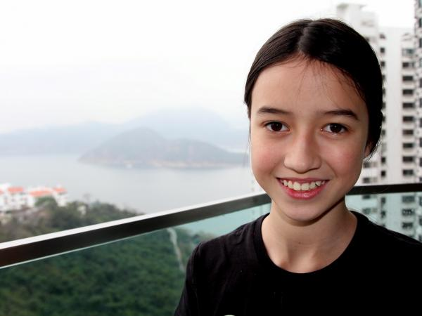 Lucy Skrine, 11, is part of a group of activists who gathered about 64,000 signatures pressing Hong Kong's government to destroy its stockpile of 28 tons of ivory.