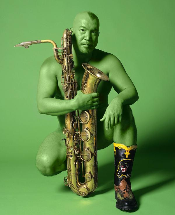 Fred used this photo on the cover of his album <em>Celestial Green Monster</em>, and his book <em>Wicked Theory, Naked Practice.</em>