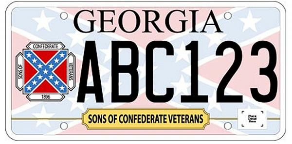 The Sons of Confederate Veterans submitted this license plate design to the state of Georgia, which recently approved it.