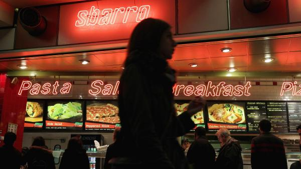 Customers at a Sbarro in Chicago on April 4, 2011, the day that the company filed for Chapter 11 bankruptcy.
