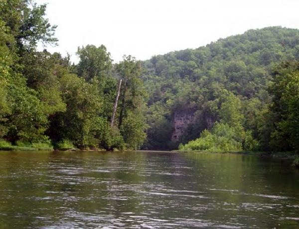 This photo of the Current River is from the cover of the National Park Service's draft management plan for the Ozark National Scenic Riverways.