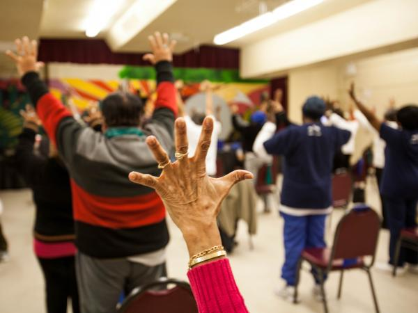 A Brownsville, N.Y., walking club gets seniors socializing with community members and stretching their legs.