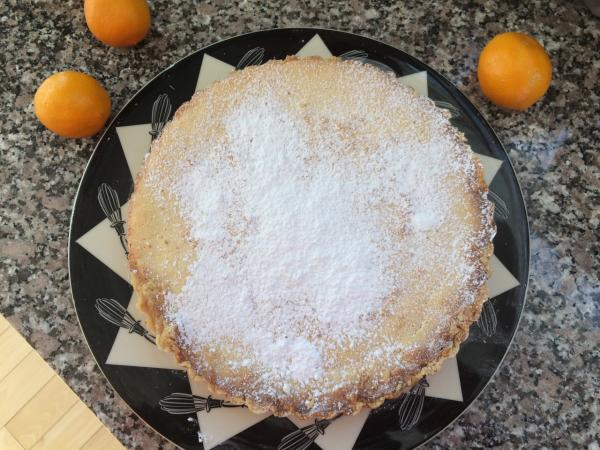 "Kathy's ""Meyer Lemon Tart."" (Kathy Gunst/Here & Now)"