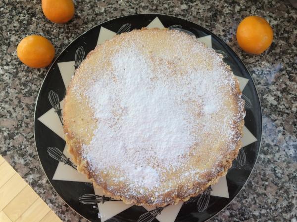 """Kathy's """"Meyer Lemon Tart."""" (Kathy Gunst/Here & Now)"""