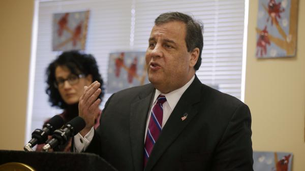 New Jersey Gov. Chris Christie addresses a Feb. 12 gathering in Toms River, N.J., that included some victims still out of their homes or businesses as a result of Superstorm Sandy.