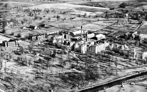 Aerial view of Fulton State Hospital, 1934.