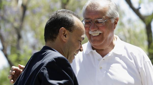 After more than 20 years in Congress, Rep. Ed Pastor, D-Ariz., says he won't be running for reelection. He's seen here with Rep. Luis Gutierrez, D-Ill., in 2010.