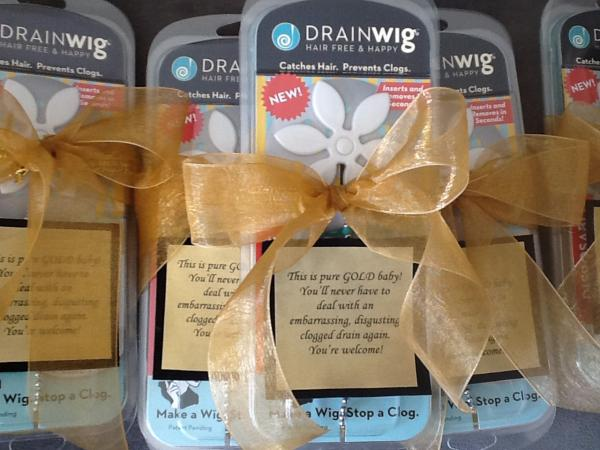 Jennifer Briggs' invention, the DrainWig, which catches hair lost in the shower and prevents drain clogs, will be in the Oscar swag bags for all the nominees at this Sunday's Academy Awards. (DrainWig)
