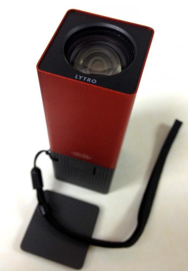 The Lytro we received to demo is about four inches long.