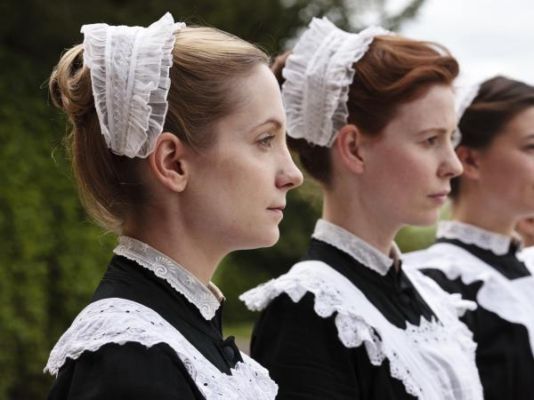 Housemaids Anna Smith (Joanne Froggatt) and Ethel (Amy Nuttall) are among the teeming staff required to keep an English manor running.