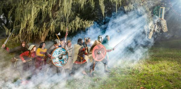 <strong>The Vikings Have Landed</strong><strong>:</strong> Photographer Ved Chirayath staged this photograph in Palo Alto Foothills Park in California last December.