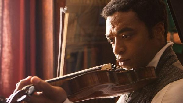 Chiwetel Ejiofor as Solomon Northup in <em>12 Years a Slave</em>.