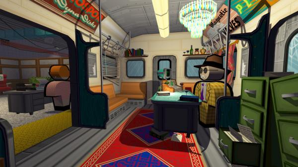 In Jazzpunk, you play a spy in a surreal world seemingly ripped from the pulpiest of spy novels.