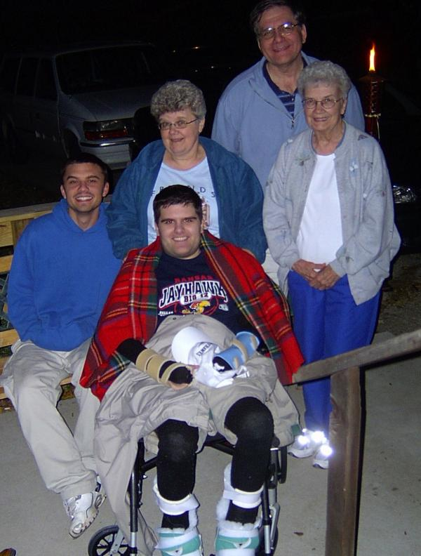 Marso and his family shortly after leaving the hospital in the fall of 2004.