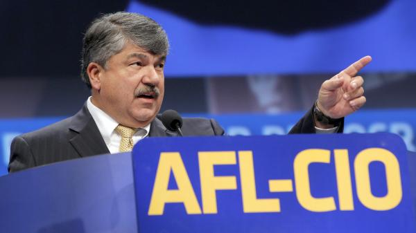 American Federation of Labor and Congress of Industrial Organizations President Richard Trumka addresses members during the quadrennial AFL-CIO convention at Los Angeles Convention Center in Sept. 2013.