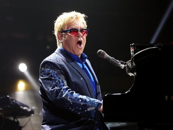 Elton John performs in 2013. Earlier that year, he put out his 31st studio album, <em>The Diving Board.</em>