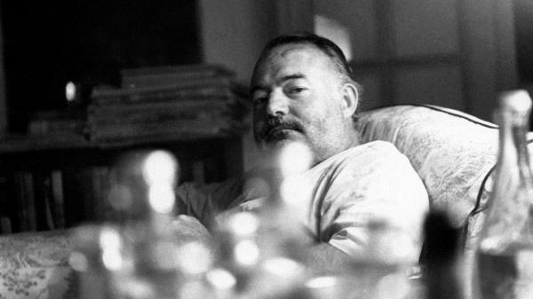 An undated  portrait of Ernest Hemingway in Cuba.