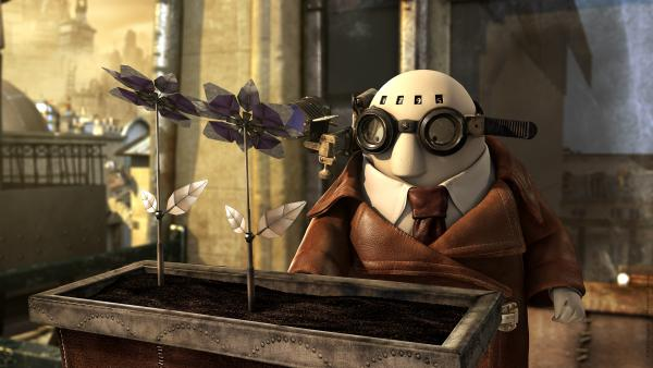 One of this season's Oscar-nominated shorts is <em>Mr. Hublot</em>, a French-language animated film about a reclusive man who must learn to adapt to a new housemate — a robot dog.