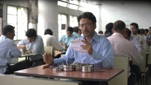 Saajan Fernandes (Irrfan Khan) is a widower whose correspondence comes in an unlikely package — a lunchbox.