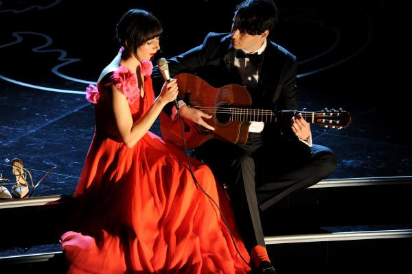 "Yeah Yeah Yeahs frontwoman Karen O and Vampire Weekend's Ezra Koenig turned in a low-key, classy take on ""The Moon Song"" from <em>Her,</em> nominated for an Oscar."