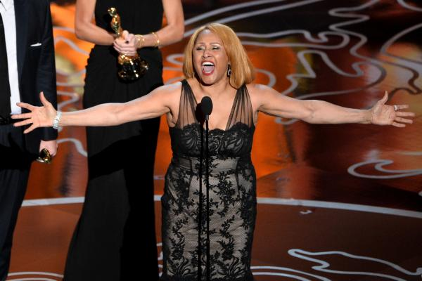 "Singer Darlene Love — featured in the Best Documentary Feature winner <em>20 Feet from Stardom — </em>blew the roof off the Dolby Theater with a verse of the gospel standard ""His Eye Is on the Sparrow."""