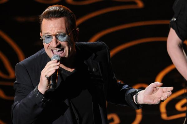 "Bono led U2 through a read of their song ""Ordinary Love,"" from <em>Mandela: Long Walk to Freedom; </em>it was nominated for a Best Original Song statue."