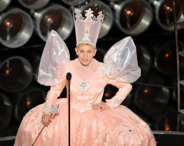 And then host Ellen DeGeneres put on her party dress, as part of a tribute to <em>The Wizard of Oz</em> in its 75th anniversary year.
