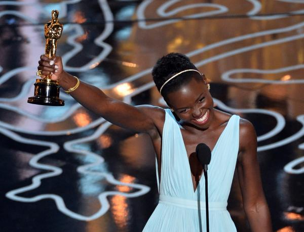 "The room exploded when Lupita Nyong'o won the Best Supporting Actress trophy for her role in <em>12 Years a Slave</em>. ""No matter where you are from, your dreams are all valid,"" she said in her thank-you speech."