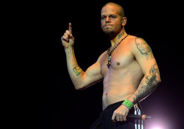 Puerto Rican musician and singer Rene Perez Joglar of Calle 13.