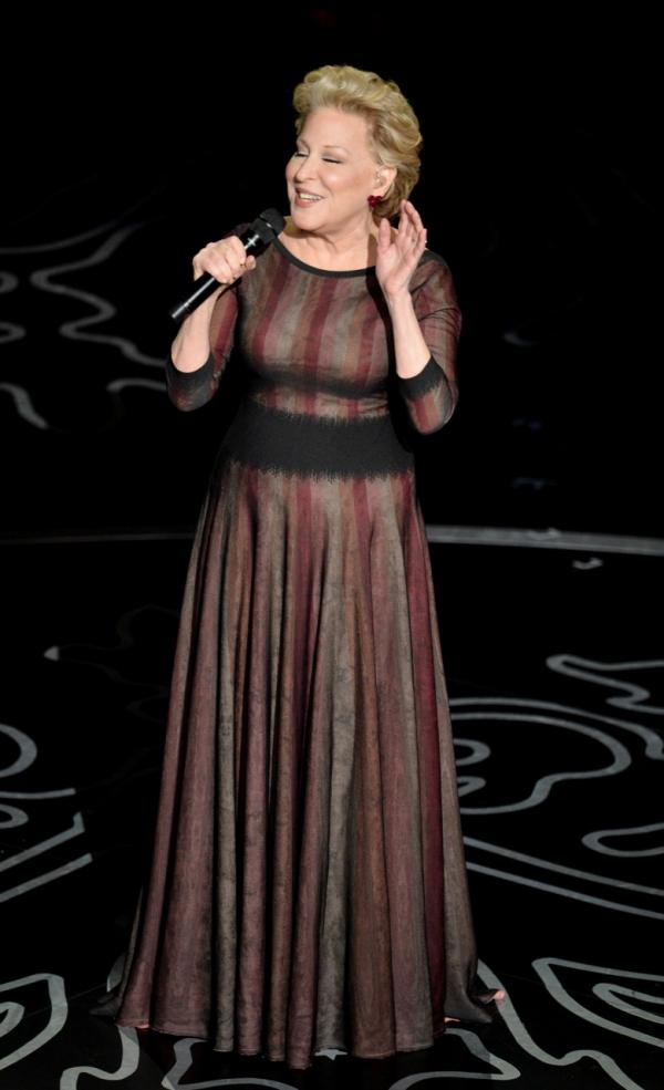 Actress/singer Bette Midler performs onstage during the Oscars at the Dolby Theatre on March 2, 2014 in Hollywood, California. (Kevin Winter/Getty Images)