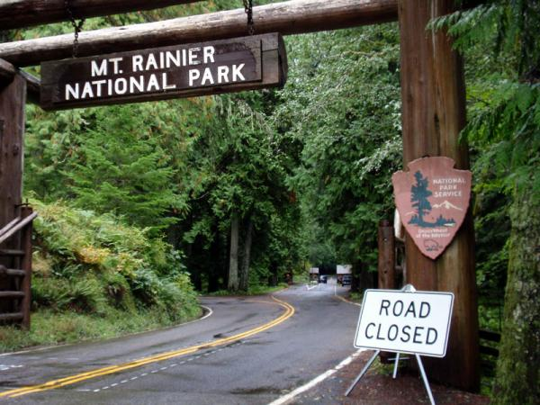 File photo of an entrance to Mount Rainier National Park