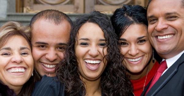 Why are these stock photo models of color so smiley? (You could ask that question about all stock photo models of color.)