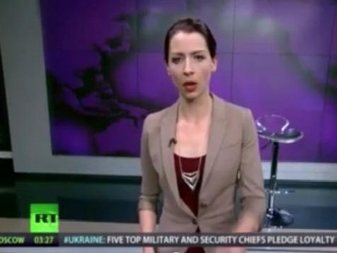 Host Abby Martin of RT America's <em>Breaking the Set</em>.