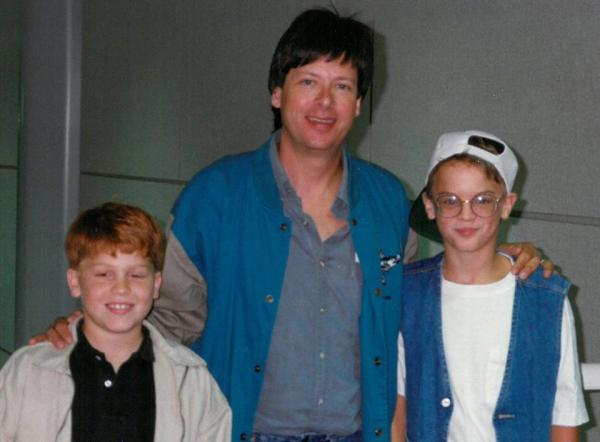 An 11-year-old Jeremy Hobson (left) is pictured with Dave Barry and Chris Jeckel in 1993 at Willard Airport in Savoy, Ill. (WILL)