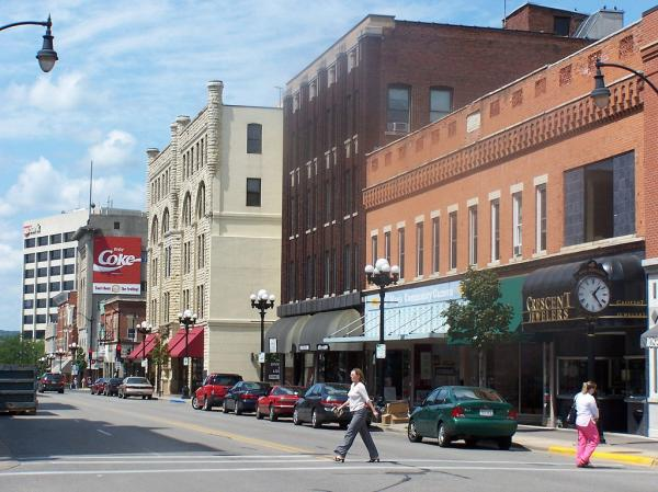 Downtown La Crosse, Wisconsin.