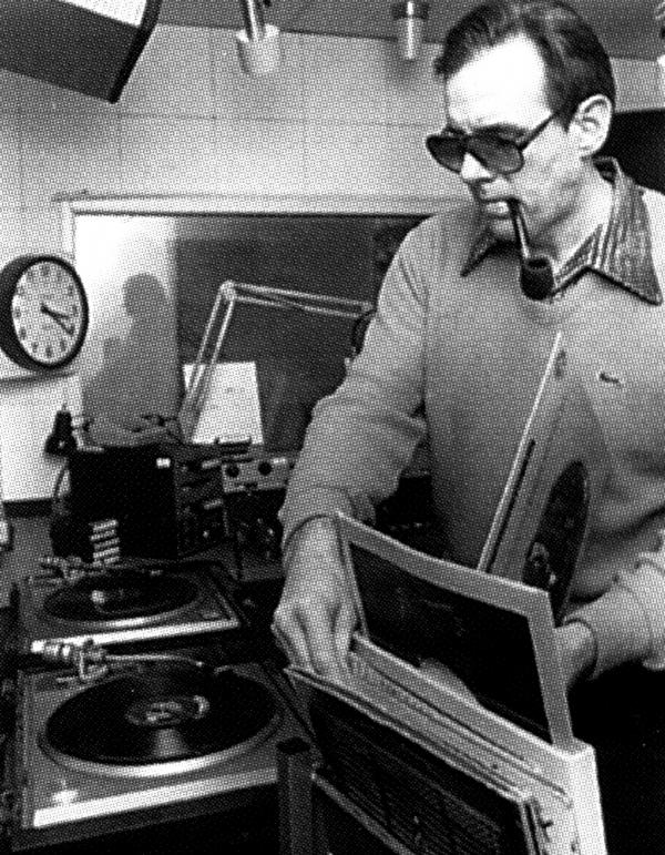Walker, shown here in 1980, started his radio career by helping to launch American University's student station, WAMU AM — which went on to become WAMU 88.5.