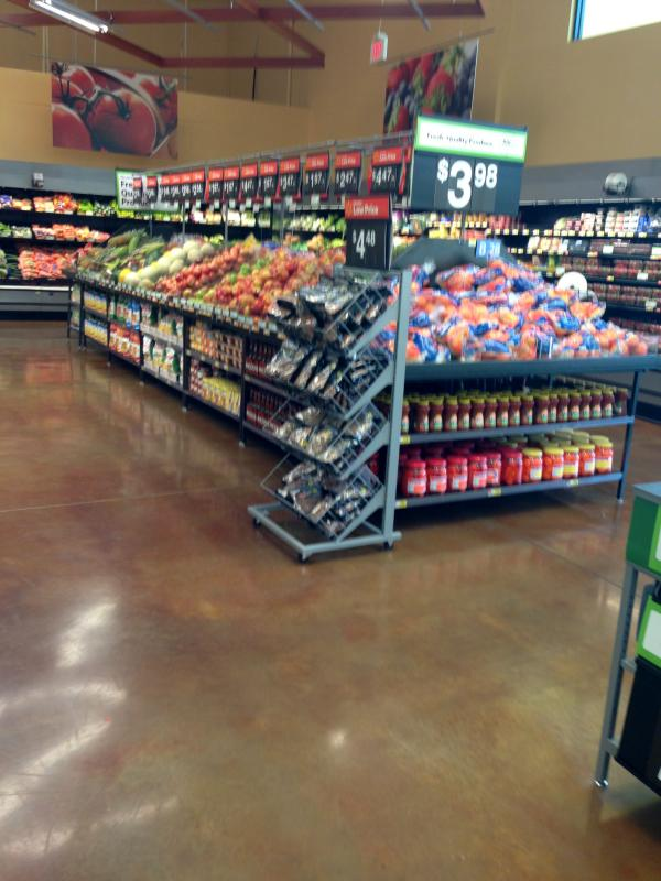 Inside the Walmart Neighborhood Market in Midtown St. Petersburg.