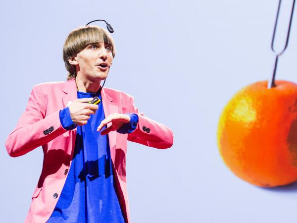 Artist Neil Harbisson speaking at TED Global.