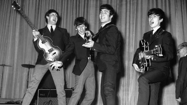 Love, love me do? I will if the Beatles sing to me. Here the Fab Four rehearse for a performance in November 1963.