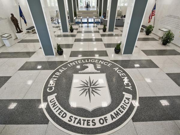 The seal of the CIA at the agency's headquarters in Virginia.