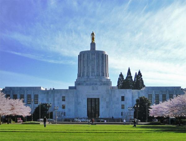 File photo of the Oregon State Capitol Building