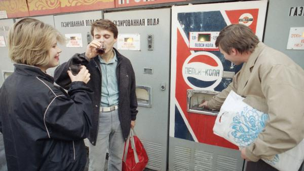 Pepsi was the first American consumer product to be manufactured and sold in the former Soviet Union. In 1991, Russians could buy the soda for 20 kopeks, about 10 cents.
