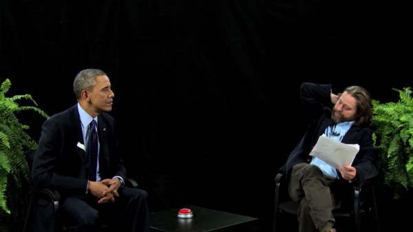 In an interview with comedian Zach Galifianakis on the Web series <em>Between Two Ferns,</em> President Obama pitched health insurance to a younger audience.
