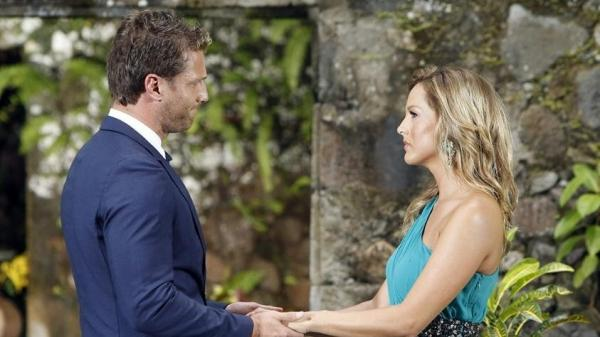 "This is what ""I didn't pick you"" looks like, coming from <em>Bachelor</em> Juan Pablo. Sorry, Clare."