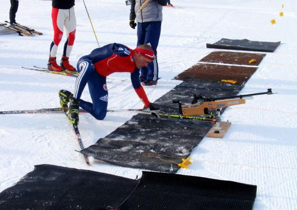 2013 file photo of Paralympian Omar Bermejo training for biathlon in Sun Valley, Idaho.