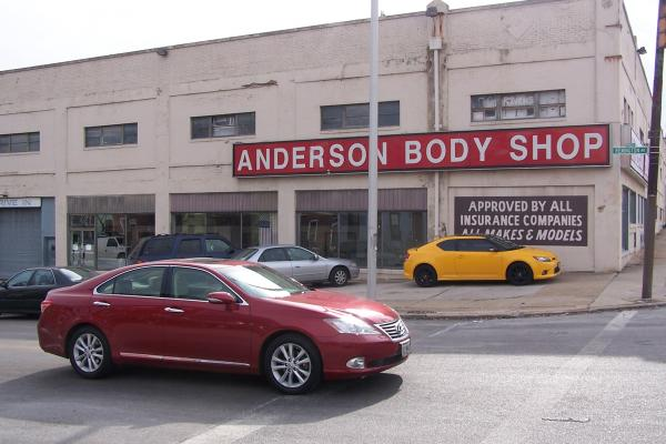 The Anderson Body Shop, now at the corner of 29th St. and Remington Avenue.