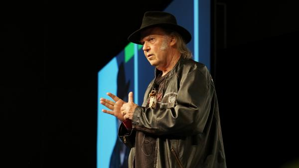 Neil Young speaks about Pono, his new high-quality digital audio system, at SXSW.