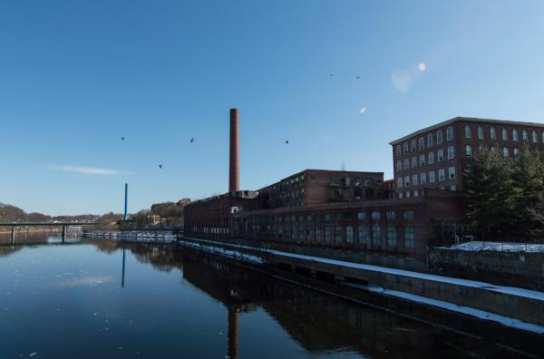 Merrimack River in Lowell, Jack Kerouac's hometown. (Casey Ashlock)