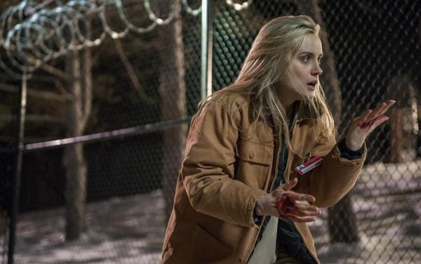 Taylor Schilling in a scene from Netflix's <em>Orange Is The New Black</em>.